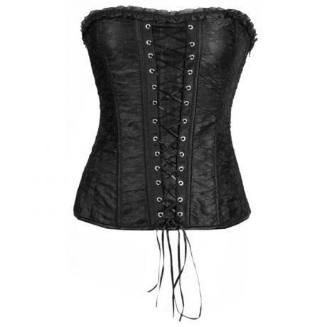 black lace corset front